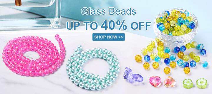 Glass Beads Up to 40% Off