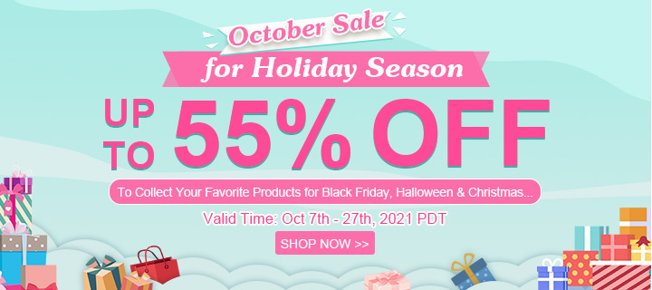 October Sale for Holiday Season